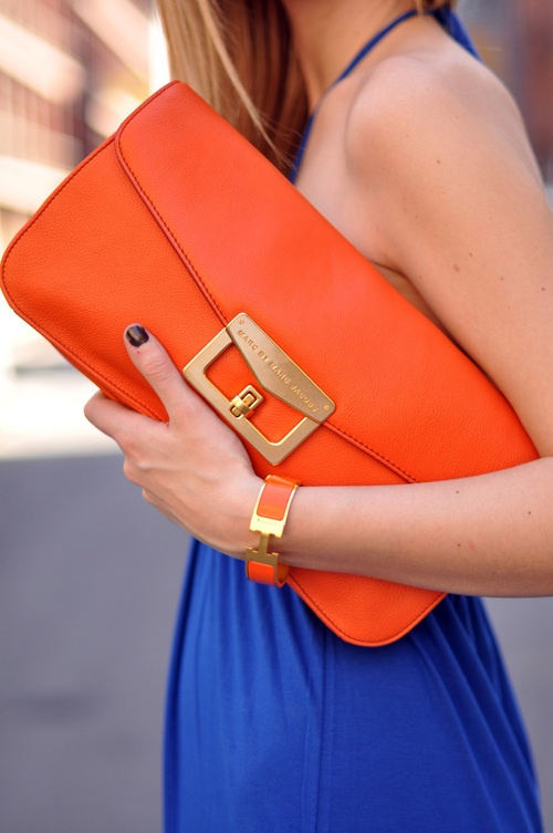 Blue and Orange bag